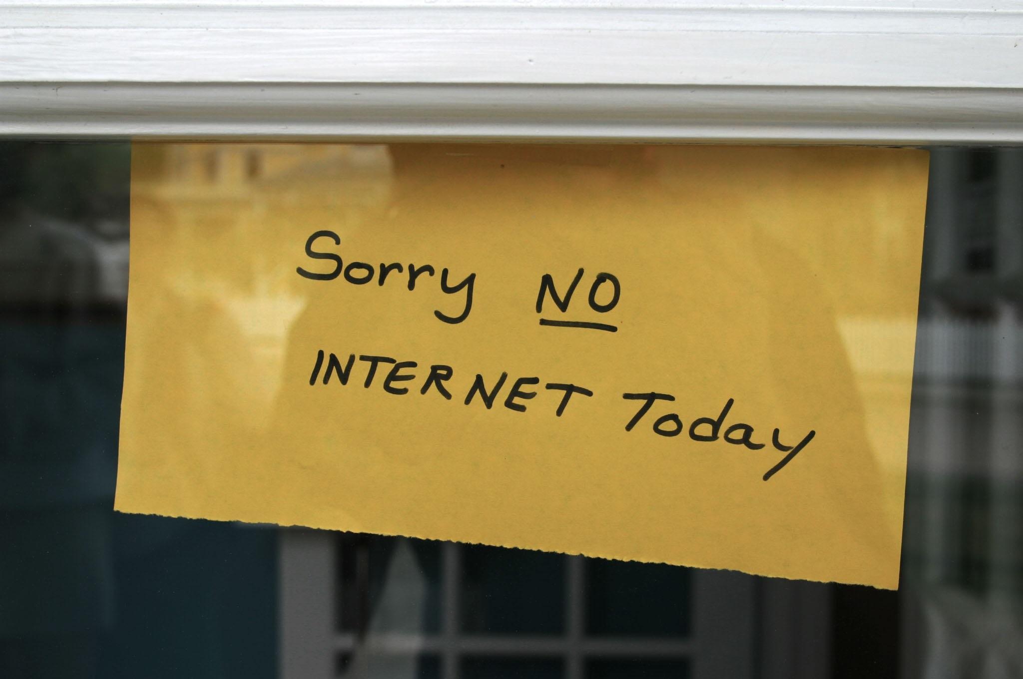 limitação da internet