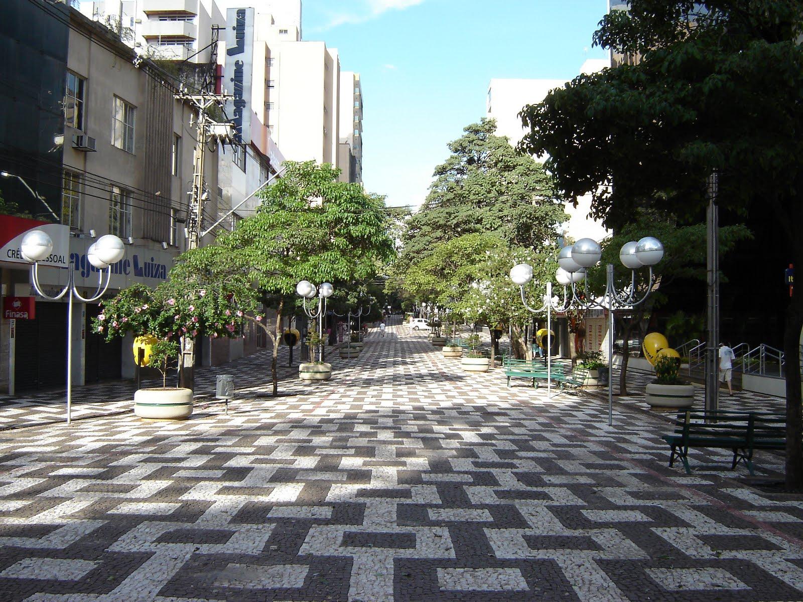 A importância de um calçadão em um centro urbano.