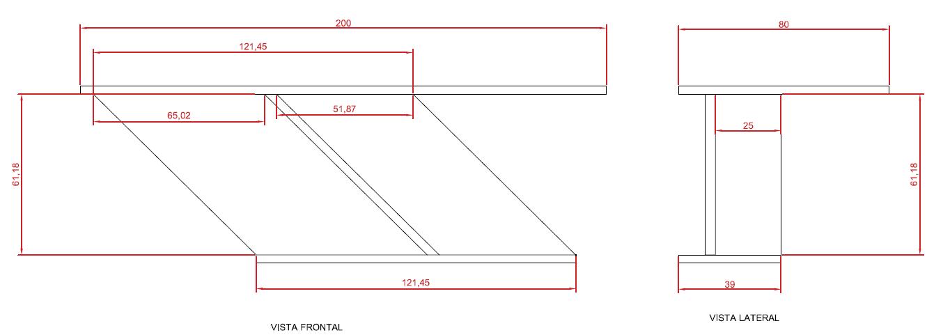 Medidas de uma mesa de escritorio df projetos for Medidas mesa escritorio