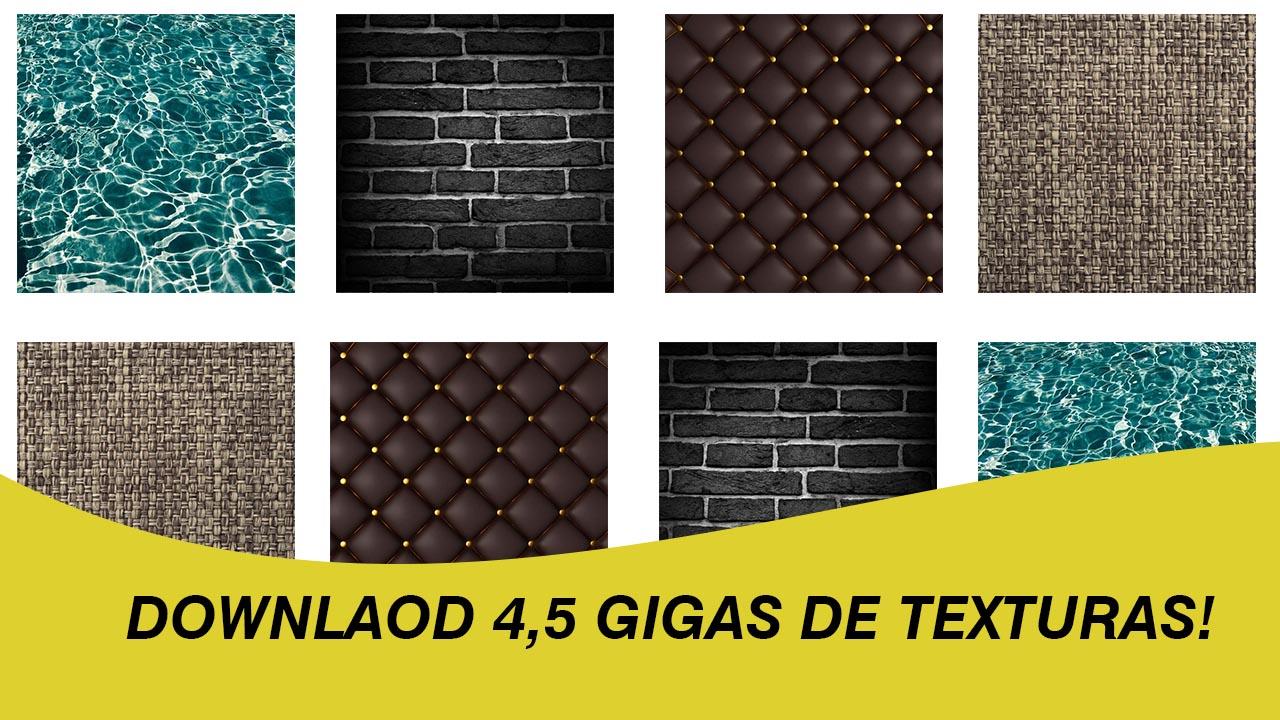 4,5 gigas de download texturas para maquetes 3d