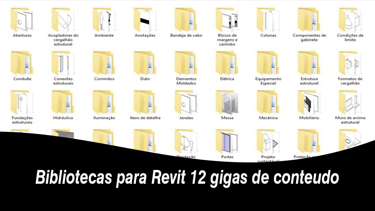 Bibliotecas para Revit 12 gigas de conteudo