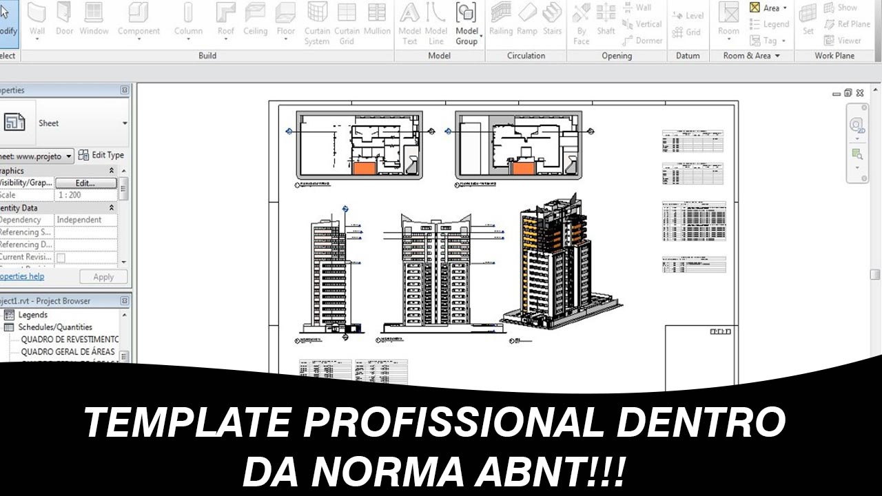 Download template revit profissional – norma ABNT