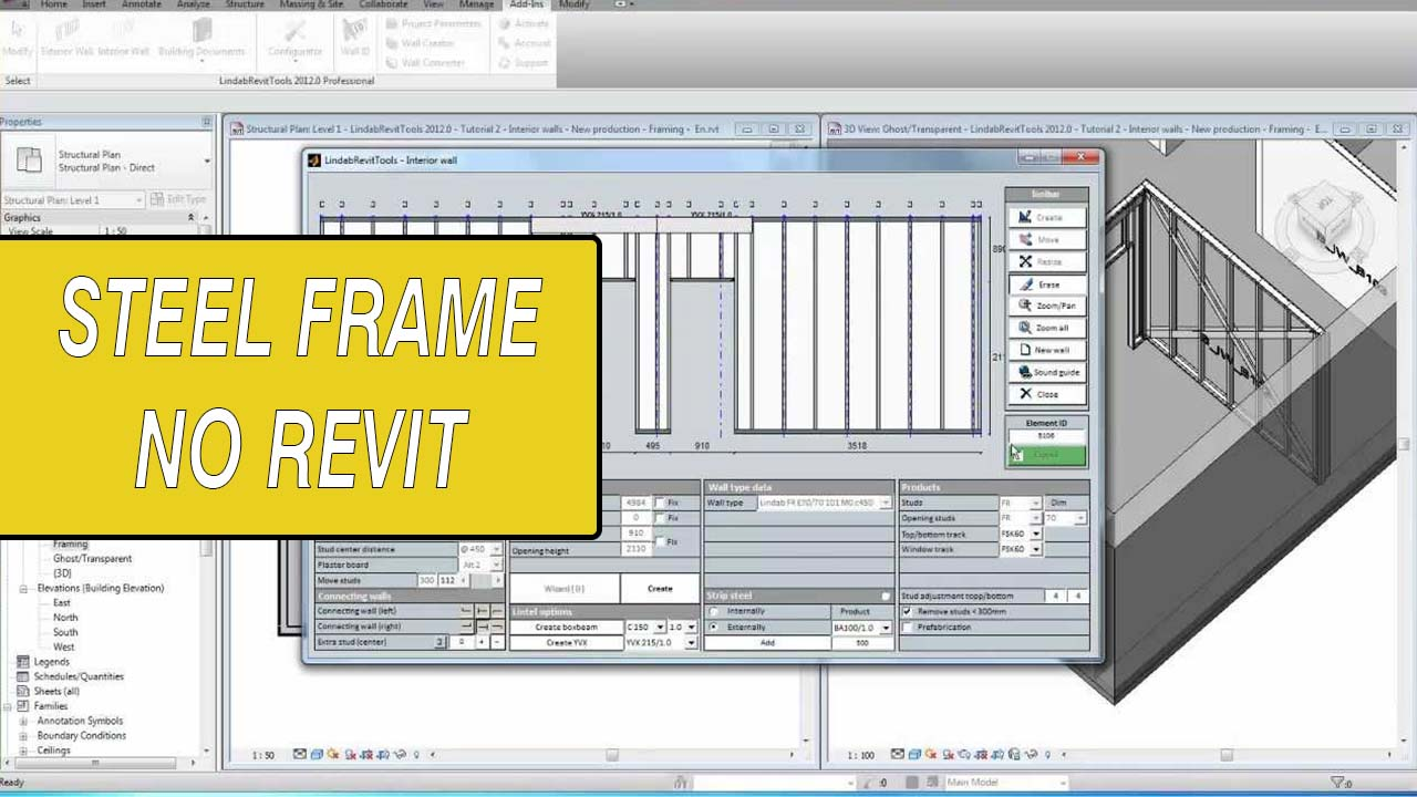 Steel frame revit