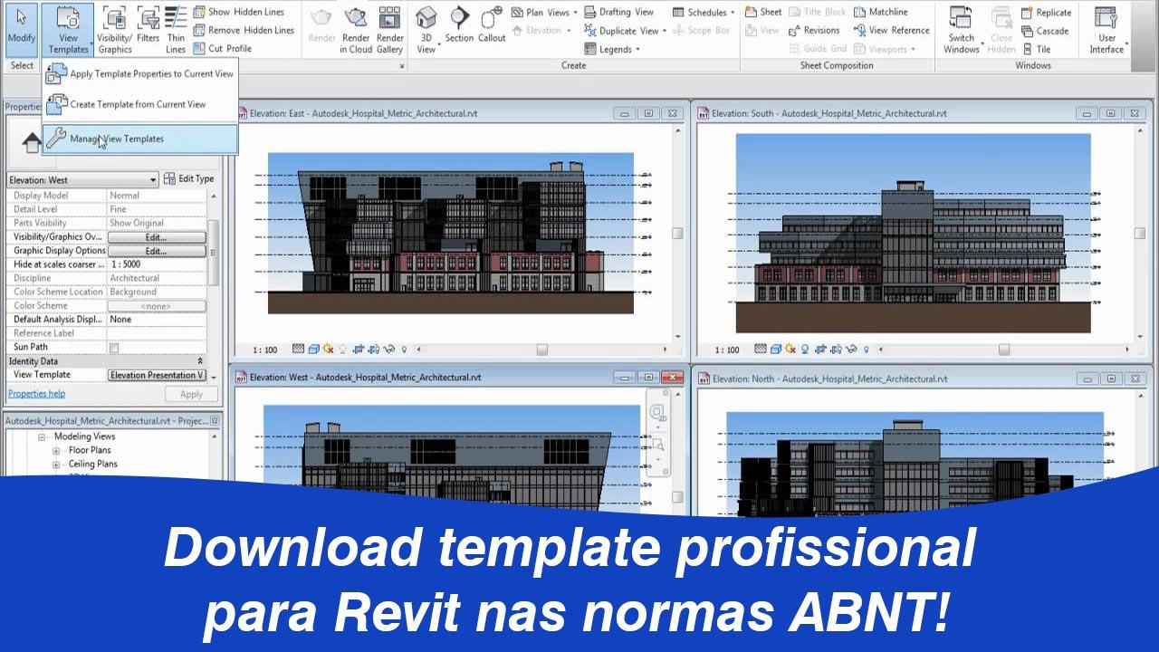 Template Revit nas normas ABNT, gostamos de fazer projetos em tamplate profissional e temos o temla top para você