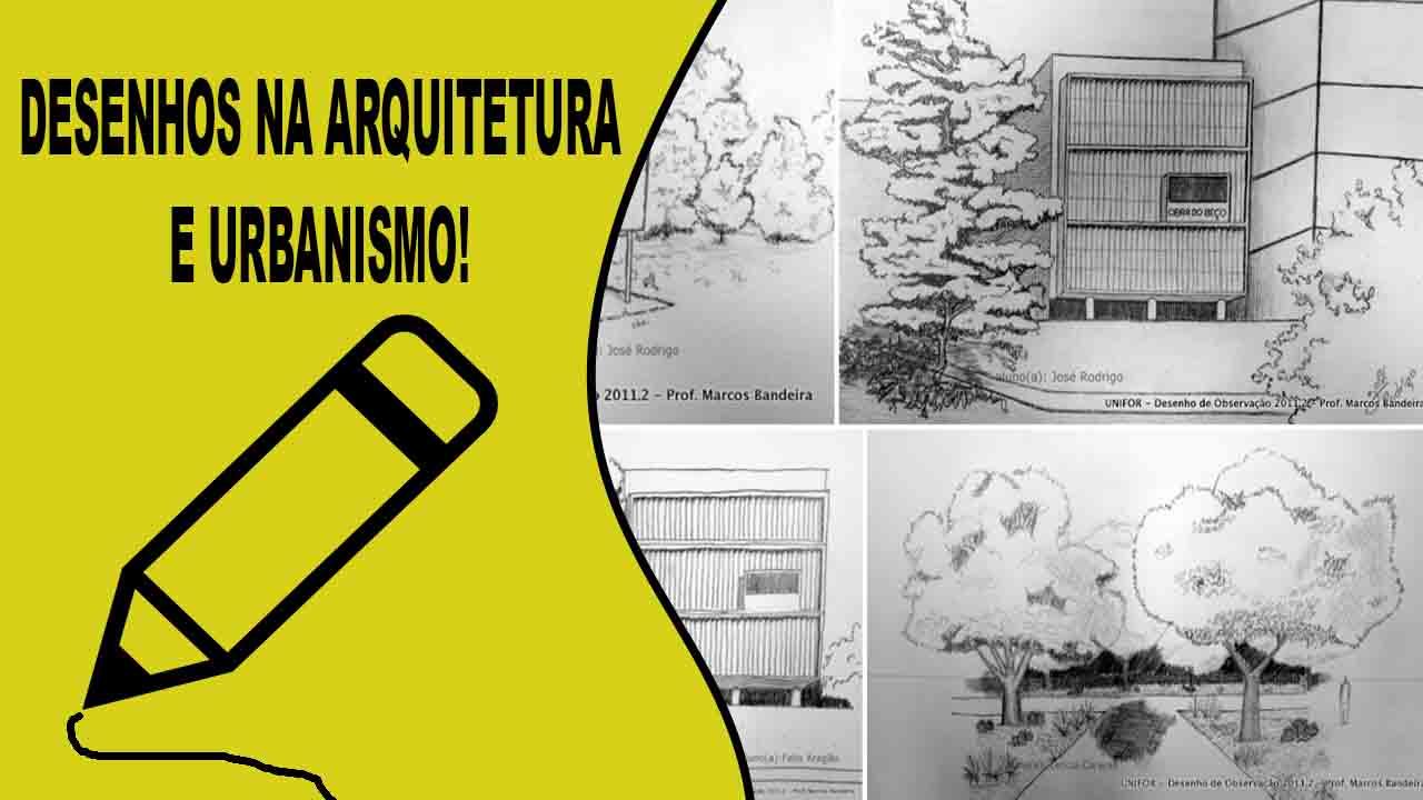 Desenhos na arquitetura e urbanismo desenhos de arquitetura e croqui de arquitetura para fazer projetos no dia seguinte a esse