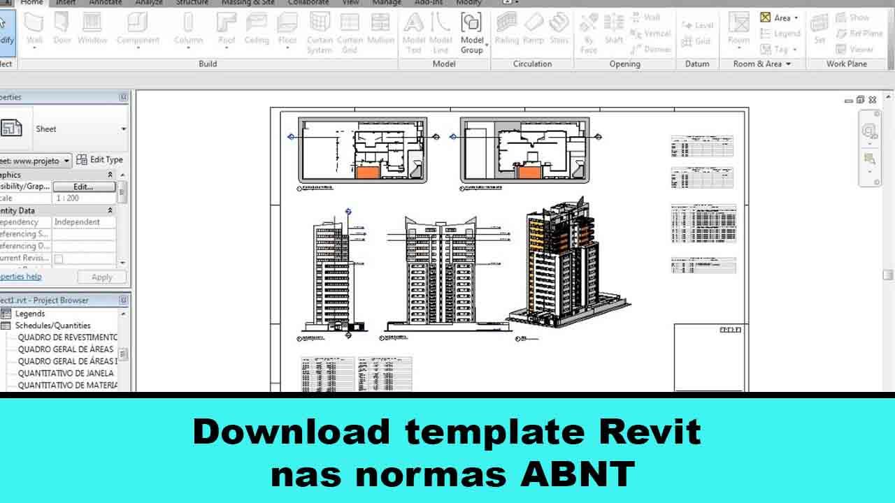 Download template Revit nas normas ABNT que são as normas que regem o brasil quando se fala de projeto de arquitetura aqui no pais