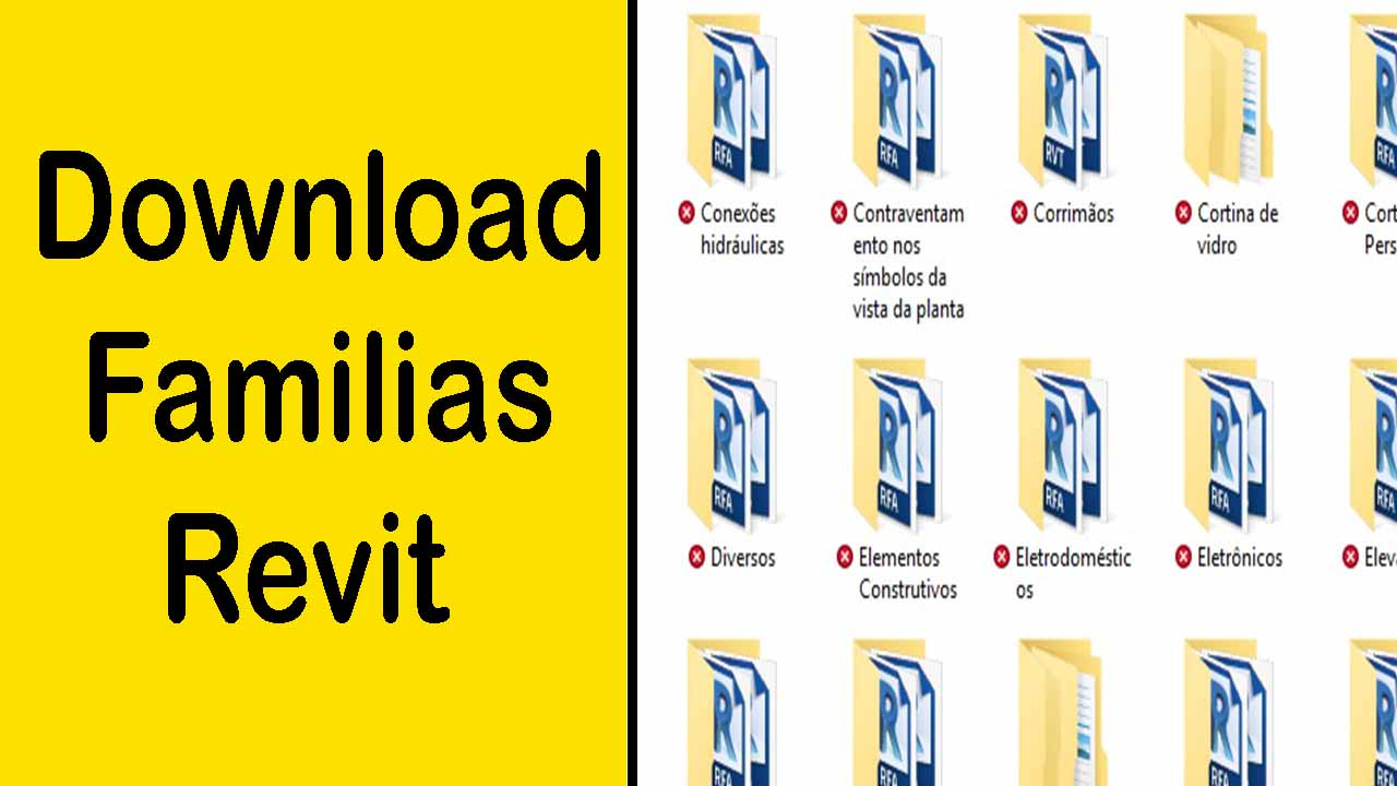 Download familias revit, blocos para revit