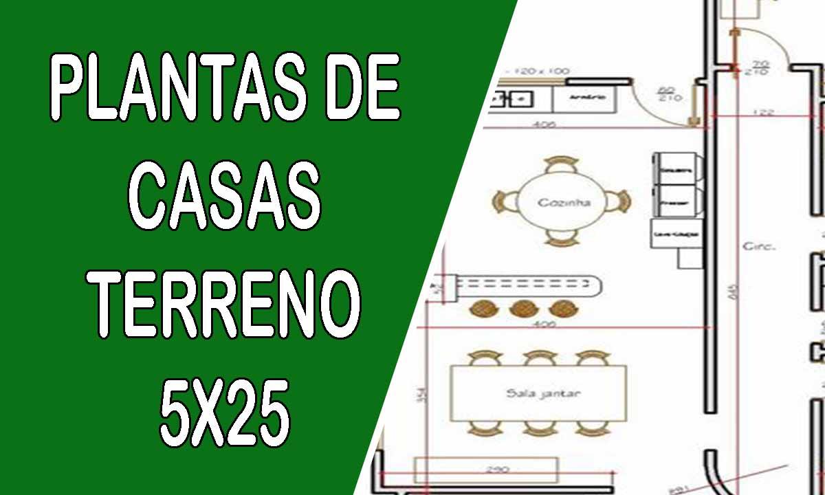 PLANTAS DE CSAS TERRENO 5X25