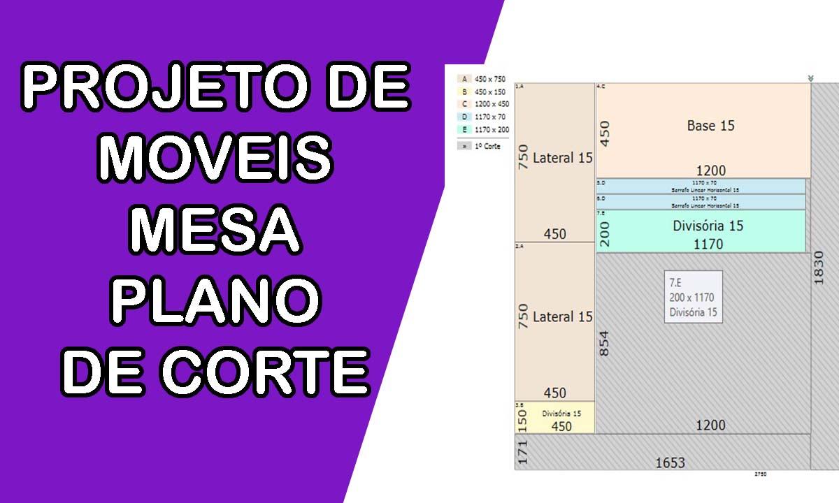 PROJETO DE MOVEIS PLANO DE CORTE