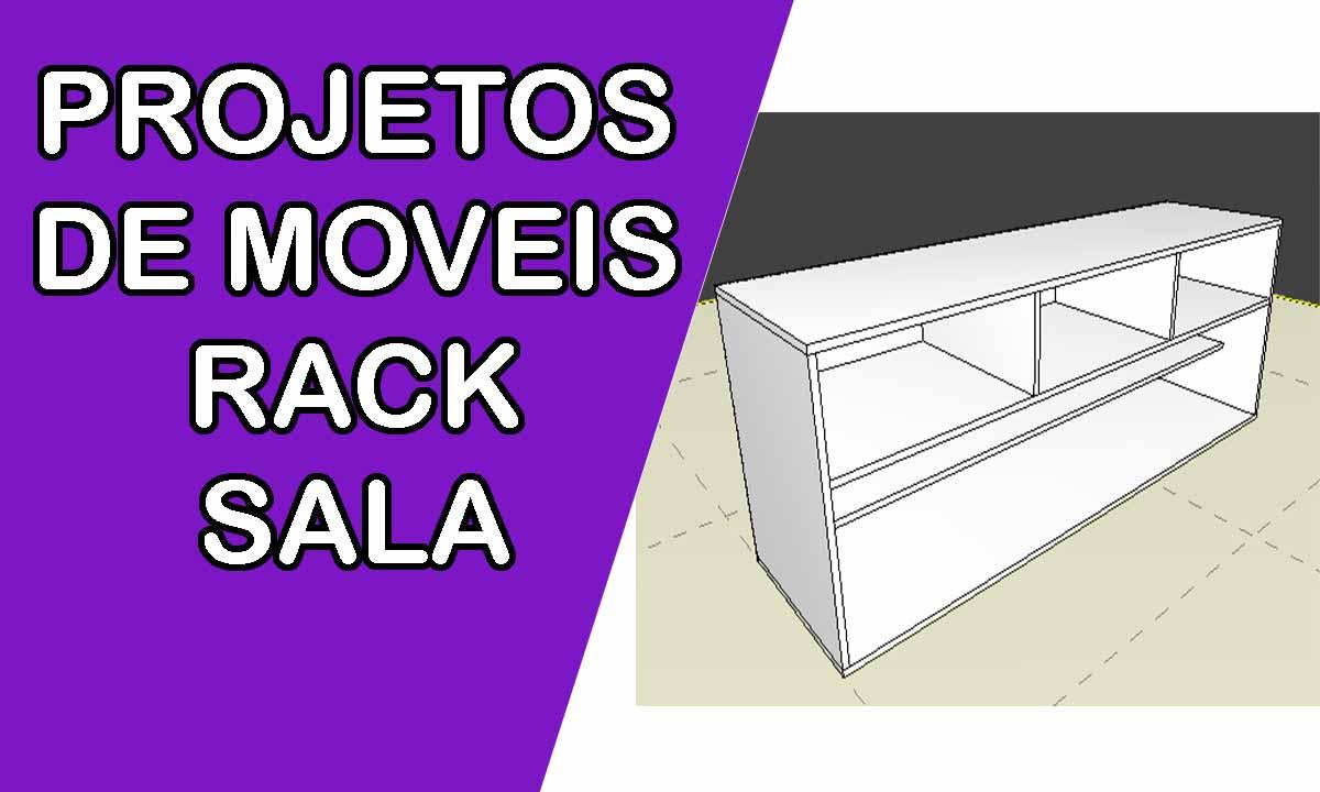 Projeto de moveis rack para sala