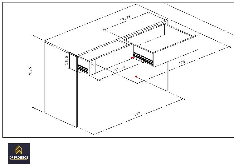 projeto de moveis mesa