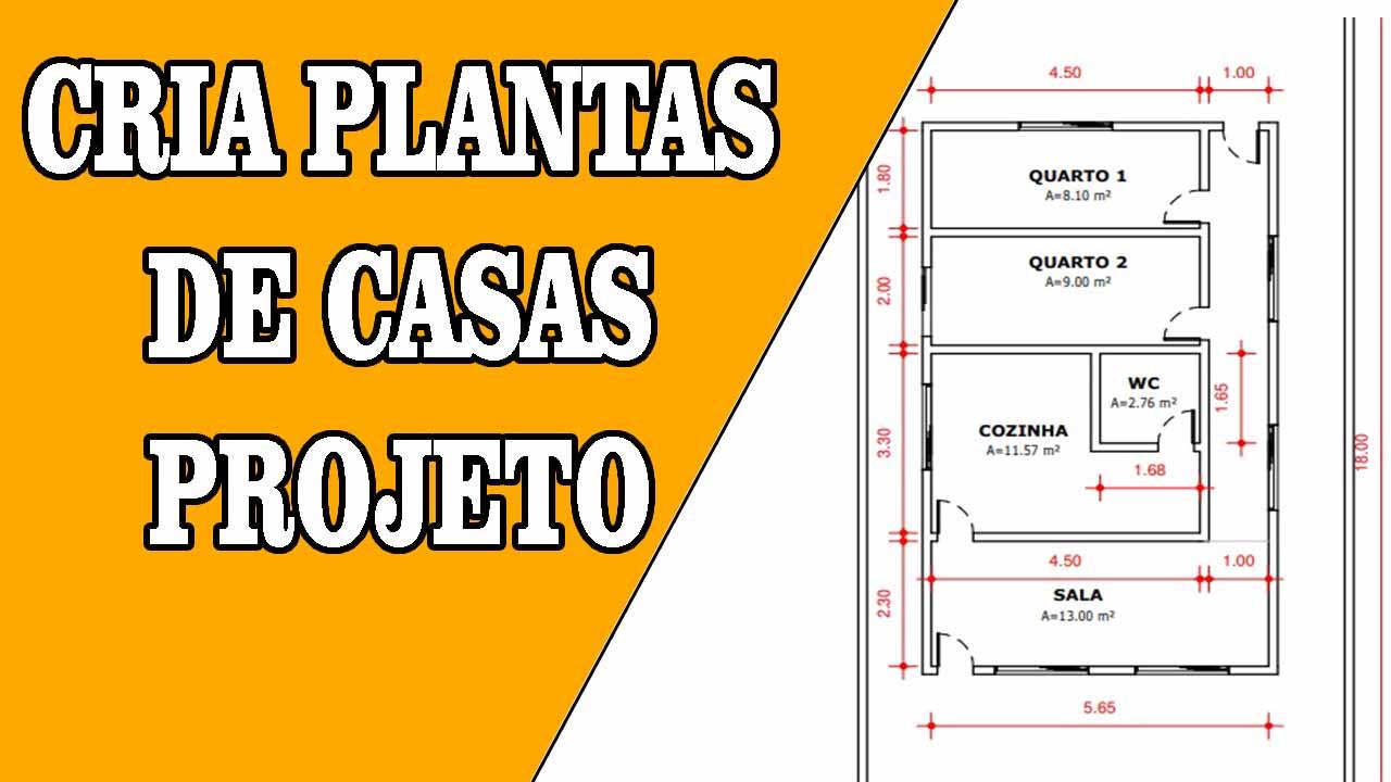 Criar plantas de casas PROJETO DE CASA DE 2 QUARTOS