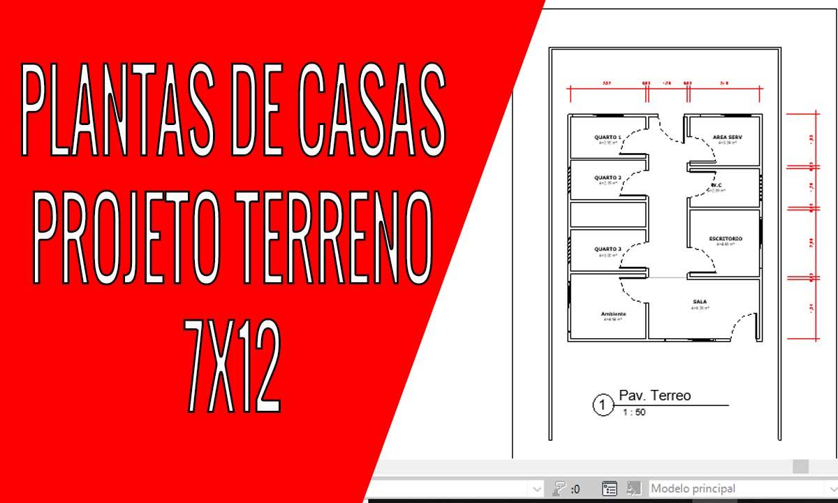 PLANTA DE CASA TERRENO 7X12