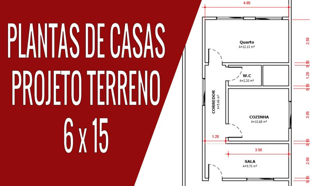 PLANTAS DE CASAS terreno 6 x 15