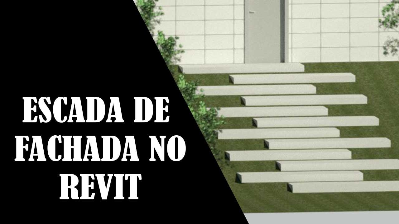 ESCADA DE FACHADA E PORTA NO REVIT