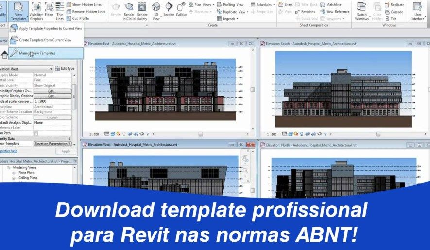 Template Revit 2019 download completo