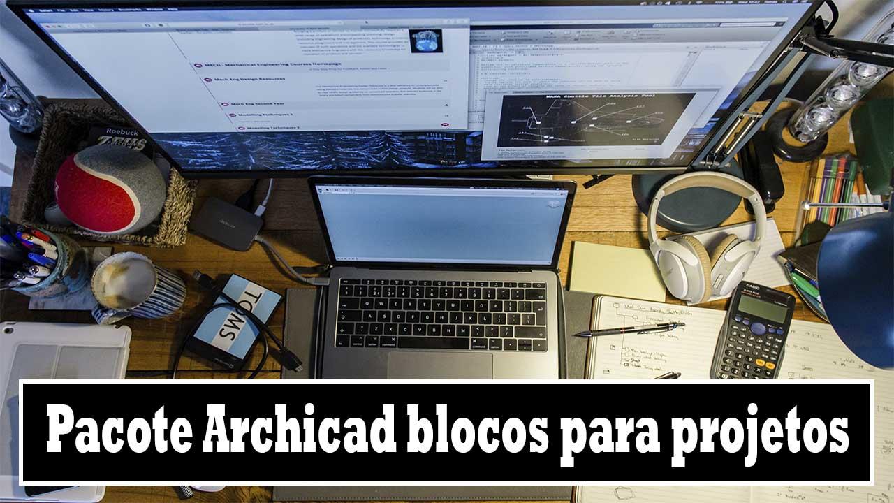 Pacote Archicad blocos para projetos