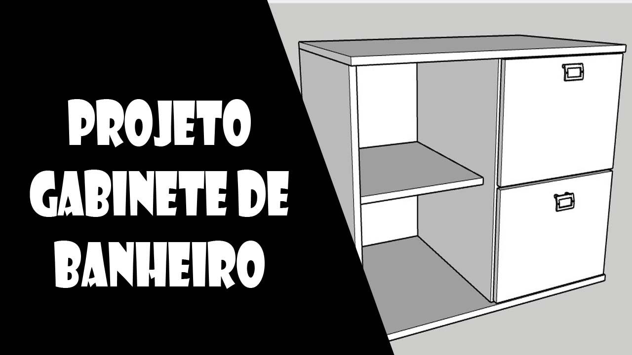 Desenhos de moveis gabinete banheiro