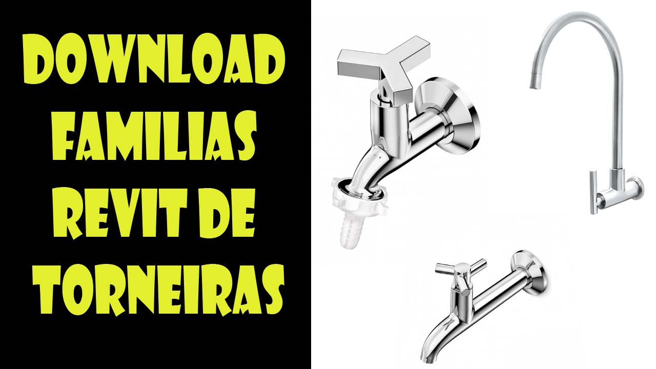Download familias Revit de torneiras