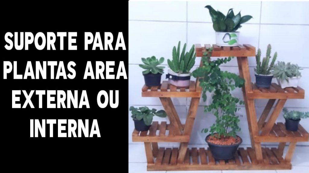 Suporte para plantas uso externo e interno